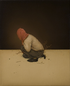 Alex Ball, Hermit, oil on linen, 2009, 27x22cm